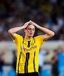 SHENZHEN - JULY 28: Borussia Dortmund midfielder Jacob Bruun Larsen reacts during the 2016 International Champions Cup China match at the Shenzhen Stadium on 28 July 2016 in Shenzhen, China. (Photo by Power Sport Images/Getty Images)