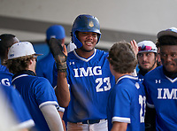IMG Academy Ascenders James Wood (23) during the IMG National Classic on March 29, 2021 at IMG Academy in Bradenton, Florida.  (Mike Janes/Four Seam Images)