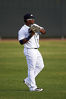 Lakeland Flying Tigers left fielder Christin Stewart (20) warms up between innings during a game against the Brevard County Manatees on April 20, 2016 at Henley Field in Lakeland, Florida.  Lakeland defeated Brevard County 5-2.  (Mike Janes/Four Seam Images)