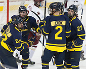 Mathieu Tibbet (Merrimack - 22), Michael Babcock (Merrimack - 19), Ryan Cook (Merrimack - 2), Patrick Kramer (Merrimack - 27) - The visiting Merrimack College Warriors defeated the Boston College Eagles 6 - 3 (EN) on Friday, February 10, 2017, at Kelley Rink in Conte Forum in Chestnut Hill, Massachusetts.