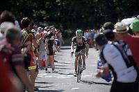 cheering fans (only) on top of the Lacets de Montvernier (2C/782m/3.4km, 8.2%)<br /> <br /> stage 18: Gap - St-Jean-de-Maurienne (187km)<br /> 2015 Tour de France