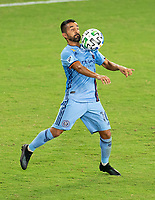 WASHINGTON, DC - SEPTEMBER 06: Maximiliano Moralez #10 of New York City FC controls the ball during a game between New York City FC and D.C. United at Audi Field on September 06, 2020 in Washington, DC.