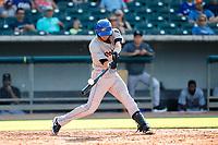 Rocket City Trash Pandas shortstop Gavin Cecchini (6) at bat against the Tennessee Smokies at Smokies Stadium on July 2, 2021, in Kodak, Tennessee. (Danny Parker/Four Seam Images)