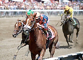 Three-year-old Admiral Alex breaks his maiden; immediately afterwards owner-trainer Leon Blusiewicz announces the horse will run in the Travers.