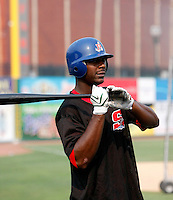 Chris Carter / Stockton Ports..Photo by:  Bill Mitchell/Four Seam Images