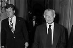 GIANNI AGNRLLI CON TED KENNEDY<br /> ROMA 1976