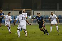SAN JOSE, CA - SEPTEMBER 13: Guram Kashia #37 of the San Jose Earthquakes plays the ball during a game between Los Angeles Galaxy and San Jose Earthquakes at Earthquakes Stadium on September 13, 2020 in San Jose, California.