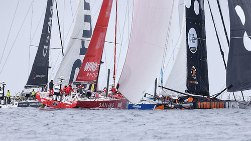 Team Childhood I, Sailing Poland and 11th Hour Racing hull to hull on the approach to Cascais