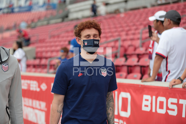 SANDY, UT - JUNE 10: Josh Sargent #9 of the United States before a game between Costa Rica and USMNT at Rio Tinto Stadium on June 10, 2021 in Sandy, Utah.