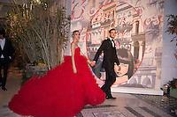 ---- PAS DE TABLOIDS, PAS DE WEB --- Beatrice et Pierre Casiraghi<br /> Bal de la Rose 2016 imaginÈ par Karl Lagerfeld. SoirÈe Cuba donnÈe au profit de la Fondation Princesse Grace. Monaco, 19/03/2016.