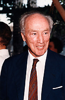 Montreal (QC) CANADA Sept 4 1995 file photo - Pierre Trudeau attend the closing ceremony of Montreal World Film Festival