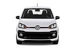 Car photography straight front view of a 2018 Volkswagen UP GTi 3 Door Hatchback