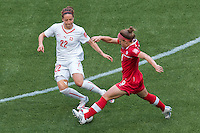 June 21, 2015: Josee BELANGER of Canada controls the ball during a round of 16 match between Canada and Switzerland at the FIFA Women's World Cup Canada 2015 at BC Place Stadium on 21 June 2015 in Vancouver, Canada. Canada won 1-0. Sydney Low/Asteriskimages.com