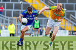 Micheál Burns, Kerry in action against Brian Conlon, Meath during the Allianz Football League Division 1 Round 4 match between Kerry and Meath at Fitzgerald Stadium in Killarney, on Sunday.