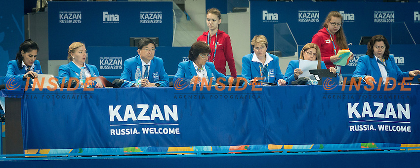 Judges<br /> Day 9 01/08/2015<br /> XVI FINA World Championships Aquatics<br /> Synchro<br /> Kazan Tatarstan RUS July 24 - Aug. 9 2015 <br /> Photo Giorgio Scala/Deepbluemedia/Insidefoto