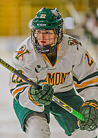 1 February 2015: University of Vermont Catamount Forward Sarah Kelly, a Sophomore from Vestal, NY, in second period action against the visiting Providence College Friars at Gutterson Fieldhouse in Burlington, Vermont. The Lady Cats defeated the Friars 7-3 in Hockey East play. Mandatory Credit: Ed Wolfstein Photo *** RAW (NEF) Image File Available ***