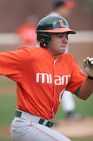 Roger Thomas of the Miami Hurricanes vs. the Virginia Cavaliers: March 24th, 2007 at Davenport Field in Charlottesville, VA.  Photo by:  Mike Janes/Four Seam Images