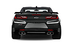 Straight rear view of 2018 Chevrolet Camaro ZL1 2 Door Coupe Rear View  stock images
