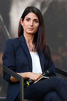The candidate mayor of Rome at the next elections, Virginia Raggi during a confrontation at the Acquario Romano, during the 'Festival del'Architettura'.<br /> Rome (Italy), July 29th 2021<br /> Photo Samantha Zucchi Insidefoto