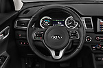 Car pictures of steering wheel view of a 2017 KIA Niro LX PHEV 5 Door Hatchback