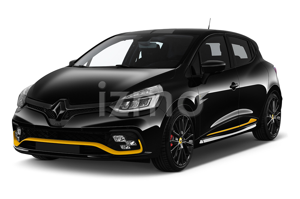 2018 Renault Clio RS Final Edition 5 Door Hatchback angular front stock photos of front three quarter view