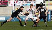 Monday 19th March 2018 |  Ulster Schools Cup Final 2018<br /> <br /> Aaron Woods during the 2018 Ulster Schools Cup Final between the Royal School Armagh and Campbell College at Kingspan Stadium, Ravenhill Park, Belfast, Northern Ireland. Photo by John Dickson / DICKSONDIGITAL