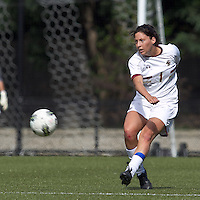Boston College forward Victoria DiMartino (1) passes the ball. Boston College defeated University of Virginia, 2-0, at the Newton Soccer Field, on September 18, 2011.