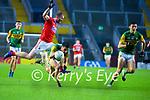 Brian Ó Beaglaoich, Kerry in action against Ruairi Deane, Cork, during the Munster GAA Football Senior Championship Semi-Final match between Cork and Kerry at Páirc Uí Chaoimh in Cork.