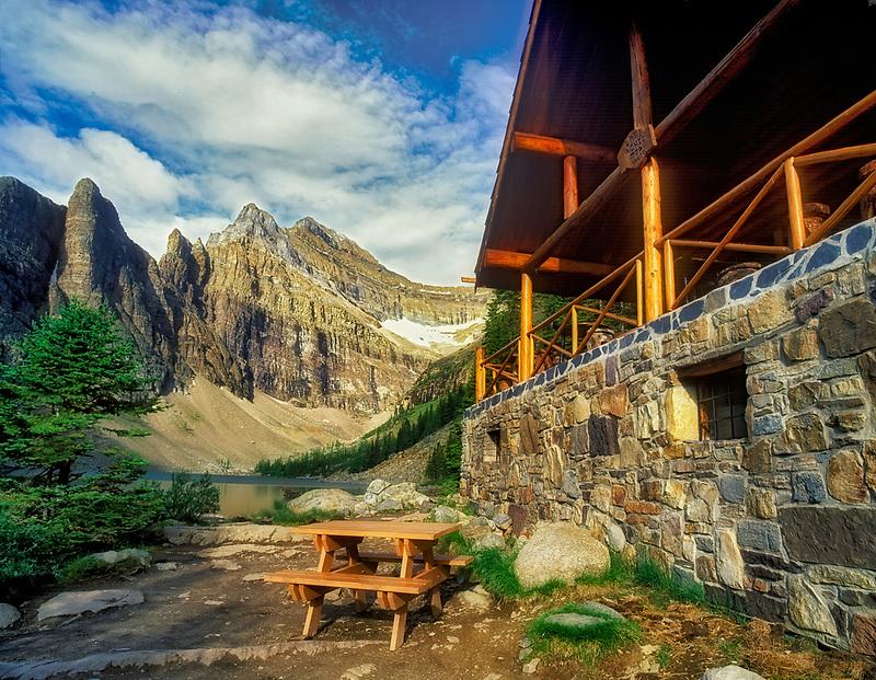 Teahouse at Agnes Lake. Banff National Park, Canada
