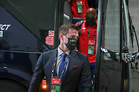 KANSAS CITY, KS - JULY 15: Brian McBride of the United States arriving at the stadium before a game between Martinique and USMNT at Children's Mercy Park on July 15, 2021 in Kansas City, Kansas.