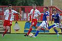 Adam Rooney of Oldham shoots<br />  Stevenage v Oldham Athletic - Sky Bet League 1 - Lamex Stadium, Stevenage - 3rd August, 2013<br />  © Kevin Coleman 2013