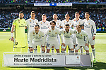 Players of Real Madrid line up and pose for a photo prior to the La Liga match between Real Madrid and Deportivo Alaves at the Santiago Bernabeu Stadium on 02 April 2017 in Madrid, Spain. Photo by Diego Gonzalez Souto / Power Sport Images
