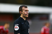Referee Anthony Coggins during Crawley Town vs Carlisle United, Sky Bet EFL League 2 Football at Broadfield Stadium on 21st November 2020