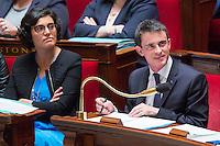 MANUEL VALLS, MYRIAM EL KHOMRI - ASSEMBLEE NATIONALE - SEANCE DE QUESTIONS AU GOUVERNEMENT