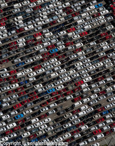 aerial photograph rental cars near San Francisco International airport SFO