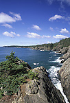Southward view of the Cutler Coast, Cutler. Maine, USA