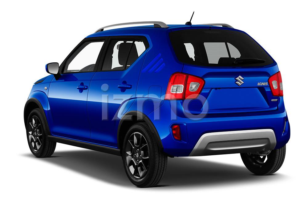 Car pictures of rear three quarter view of 2020 Suzuki Ignis GL+ 5 Door Hatchback Angular Rear