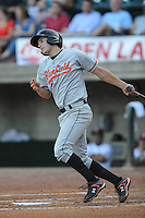 Bluefield Orioles Brad Decatur at Pioneer Park in Greenville, Tennessee July 19, 2010.   Greenville won the game 7-6.  Photo By Tony Farlow/Four Seam Images