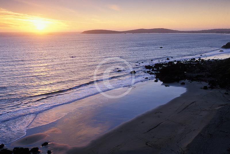 California, Bodega Bay, Sunset over Bodega Head
