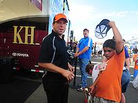 Jul, 22, 2011; Morrison, CO, USA: NHRA top fuel dragster driver Del Worsham during qualifying for the Mile High Nationals at Bandimere Speedway. Mandatory Credit: Mark J. Rebilas-