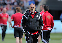 Francesco Guidolin, Manager of Swansea City  during the Swansea City FC v Manchester City Premier League game at the Liberty Stadium, Swansea, Wales, UK, Sunday 15 May 2016