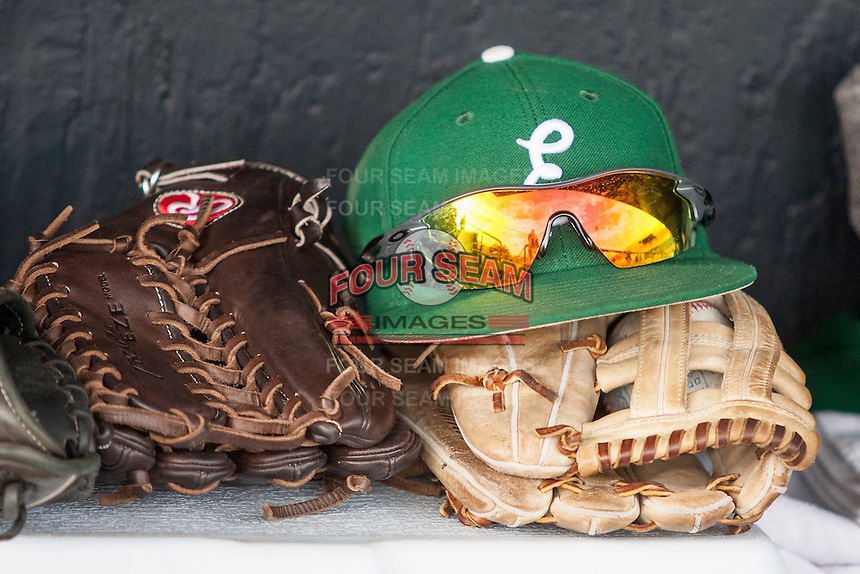 Eastern Michigan Hurons hat on May 3, 2016 at Ray Fisher Stadium in Ann Arbor, Michigan. (Andrew Woolley/Four Seam Images)