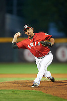 Erie SeaWolves relief pitcher Kurt Spomer (30) during a game against the Richmond Flying Squirrels on May 27, 2016 at Jerry Uht Park in Erie, Pennsylvania.  Richmond defeated Erie 7-6.  (Mike Janes/Four Seam Images)