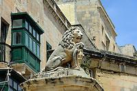 Steinlöwe in Valletta, Malta, Europa, Unesco-Weltkulturerbe