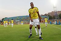 Colombia's Yerri Mina celebrates goal during international friendly match. June 13,2017.(ALTERPHOTOS/Acero) (NortePhoto.com) (NortePhoto.com)