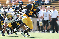 Jeremy Ross on the punt return. The California Golden Bears defeated the Colorado Buffaloes 52-7 at Memorial Stadium in Berkeley, California on September 11th, 2010.