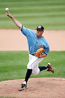June 25, 2009:  Relief Pitcher Cody Satterwhite of the Erie Seawolves delivers a pitch during a game at Jerry Uht Park in Erie, PA.  The Erie Seawolves are the Eastern League Double-A affiliate of the Detroit Tigers.  Photo by:  Mike Janes/Four Seam Images