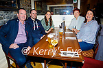 Enjoying the evening in the Horseshoe Bar in Listowel on Thursday, l to r: Andrew Shine, Liam Donoghue, Aoife Shine, Marie O'Neill and Mary Shine (All Listowel).