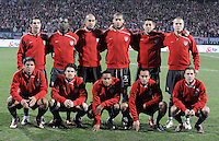 USA starting XI. The United States defeated Poland 3-0 during an international friendly at Wisla Stadium in Krakow, Poland on March 26, 2008.