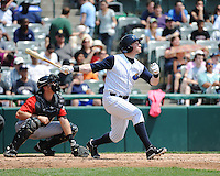 Trenton Thunder outfielder Slade Heathcott (11) during game against the Erie SeaWolves at ARM & HAMMER Park on May 29 2013 in Trenton, NJ.  Trenton defeated Erie 3-1.  Tomasso DeRosa/Four Seam Images